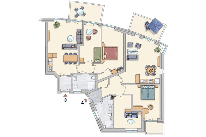 Wohnungen 3 + 4